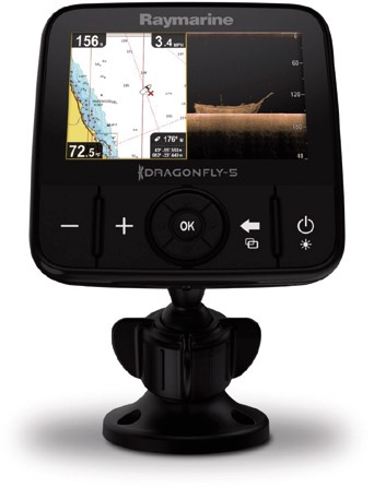Raymarine Dragonfly 5 Pro Fishfinder/ kaartplotter, Chirp sonar, Downvision -  (incl. EU C-Map)