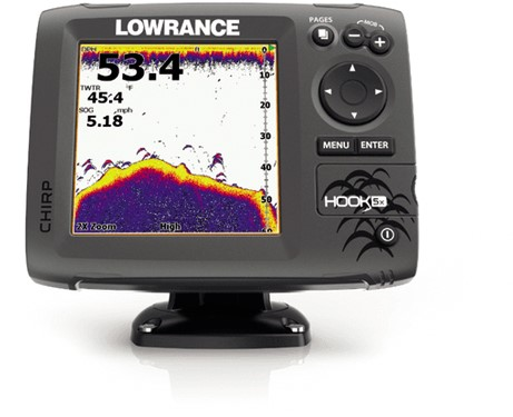 Lowrance Hook-5x Mid/High/DownScan Fishfinder/ GPS - NMEA0183