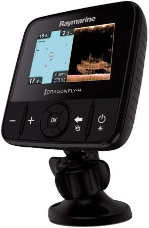 Raymarine Dragonfly 4 Pro Fishfinder/ kaartplotter, Chirp sonar en Downvision