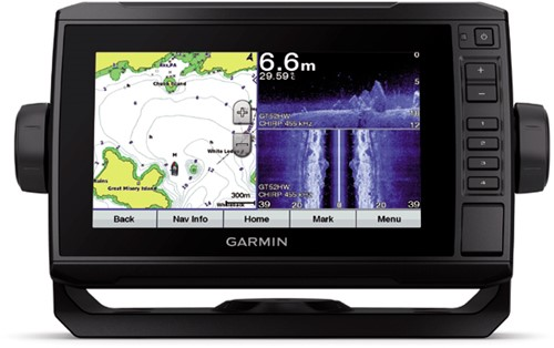 Garmin ECHOMAP Plus 72sv met GT52-TM transducer - CHIRP ClearVü™ - CHIRP SideVü™