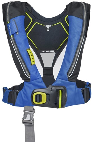 Spinlock deckvest 6D Reddingsvest - 170N - pacific blauw - noodverlichting - sprayhood