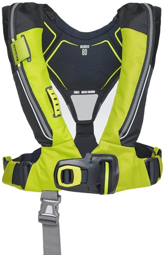 Spinlock deckvest 6D Reddingsvest - 170N - citrus geel - HRS - noodverlichting - sprayhood