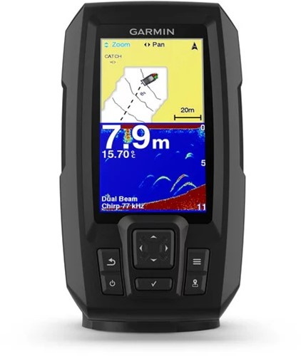 Garmin STRIKER Plus 4, 4,3-inch w/Dual Beam Fishfinder - Quickdraw Contours chart